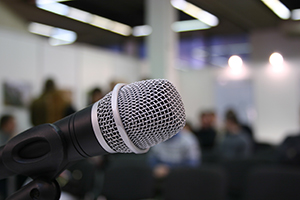 Seza Isizwe Motivational Speaking Graphic - A Picture of a microphone